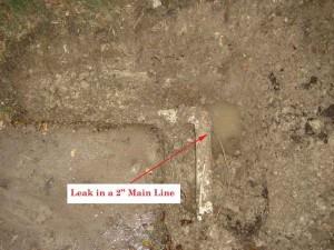 main line leak before