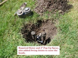 sprinkler rotor repair