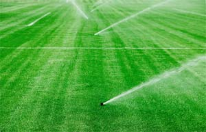 Irrigation system working properly